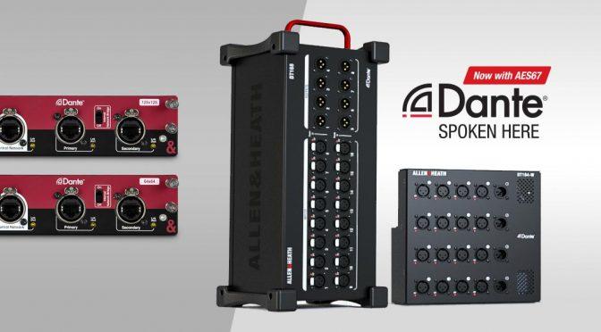 Dante Stagebox und neue Dante Karte für dLive Consoles